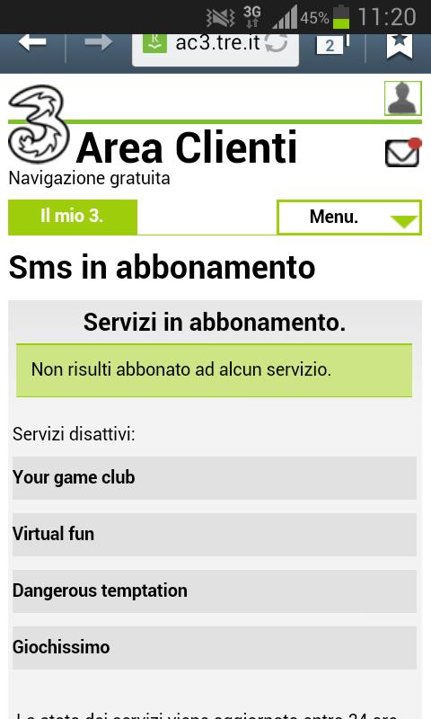 sms abbonamento 3